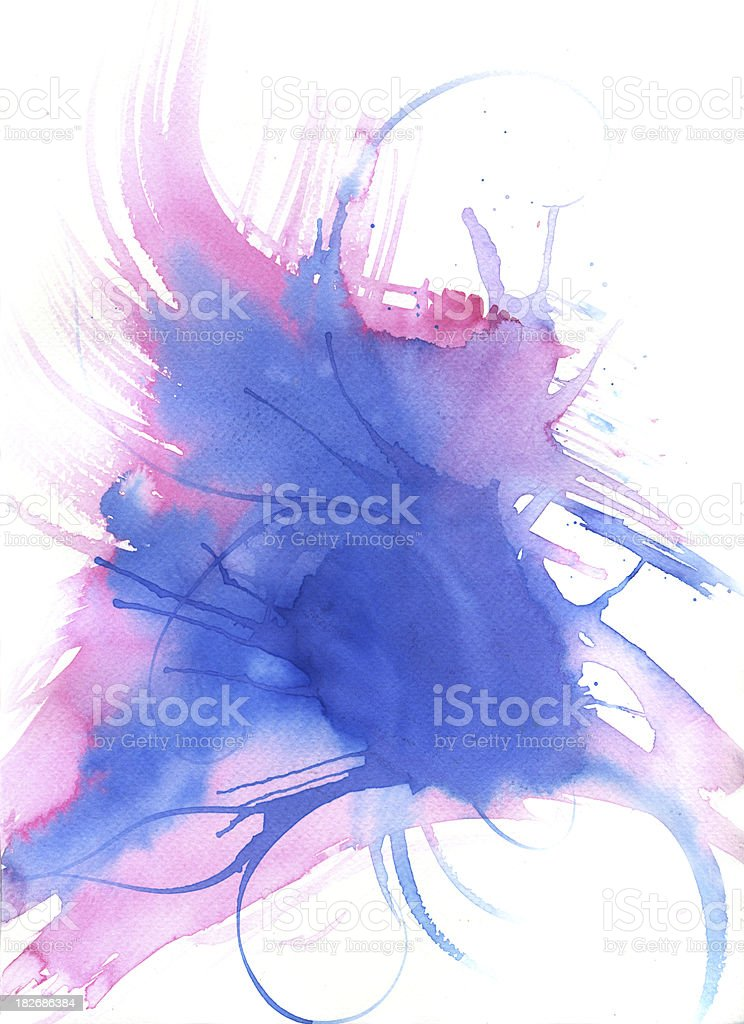 blue explosion royalty-free stock vector art