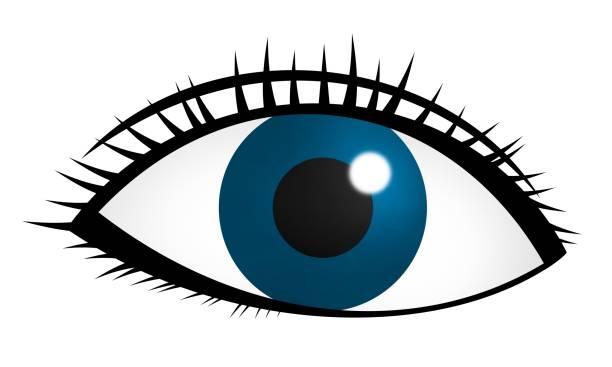 ilustraciones, imágenes clip art, dibujos animados e iconos de stock de ojo azul - ojos azules