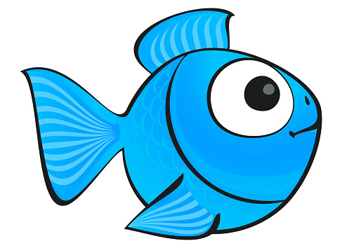 Blue fish isolated