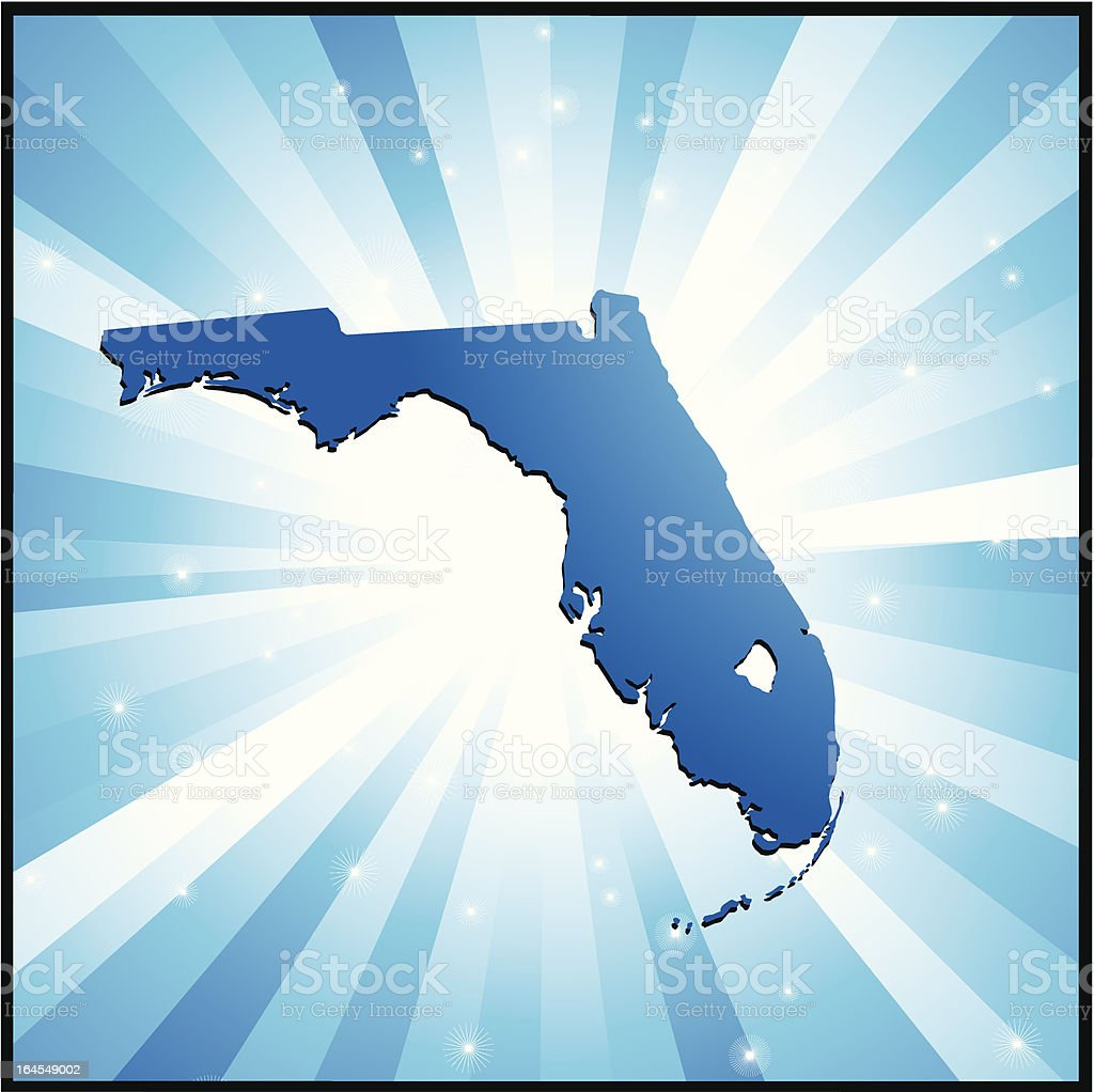 Blue Florida royalty-free stock vector art