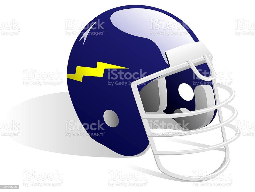 Blue Football Helmet - Vector royalty-free stock vector art
