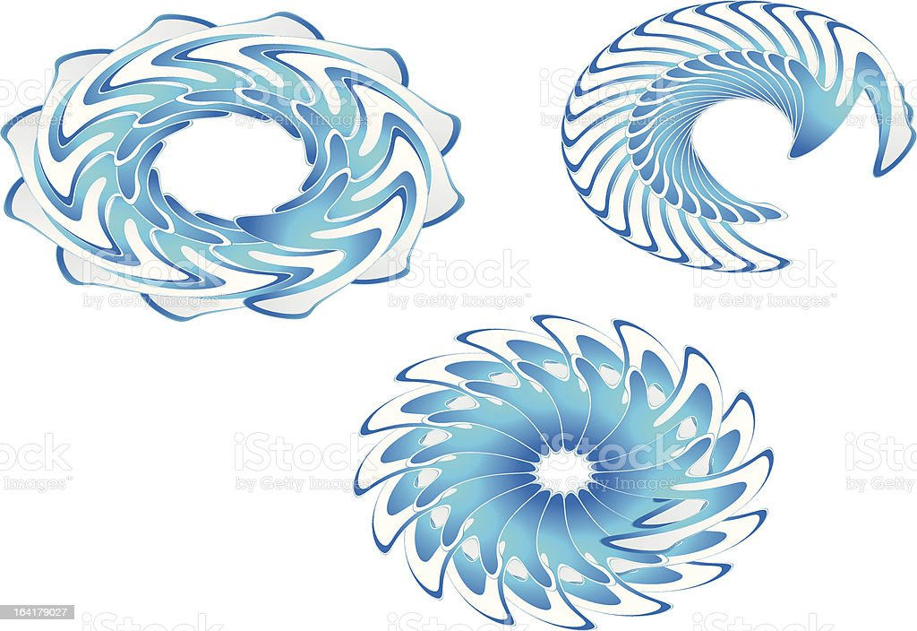 blue fractal icons royalty-free blue fractal icons stock vector art & more images of badge