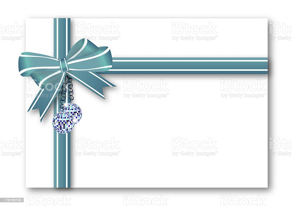 Blue Gift Bow royalty-free stock vector art