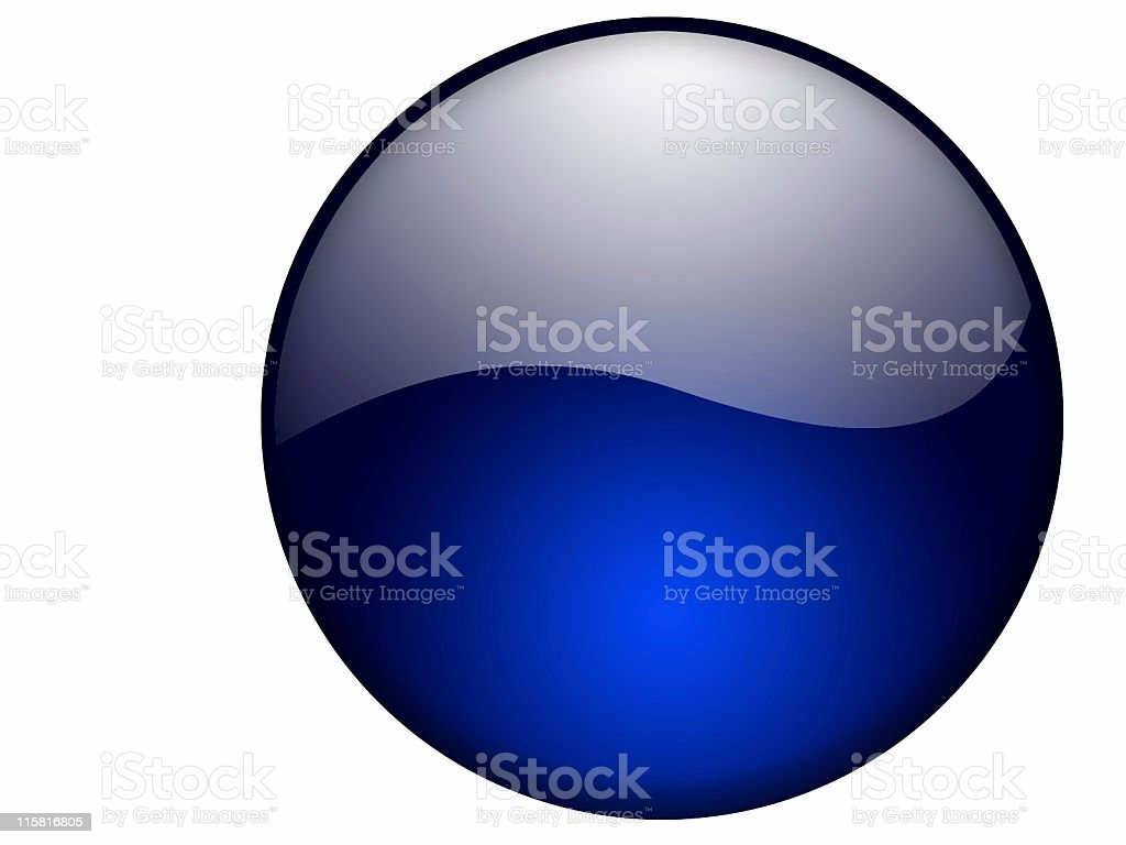 Blue Glass Button royalty-free stock vector art