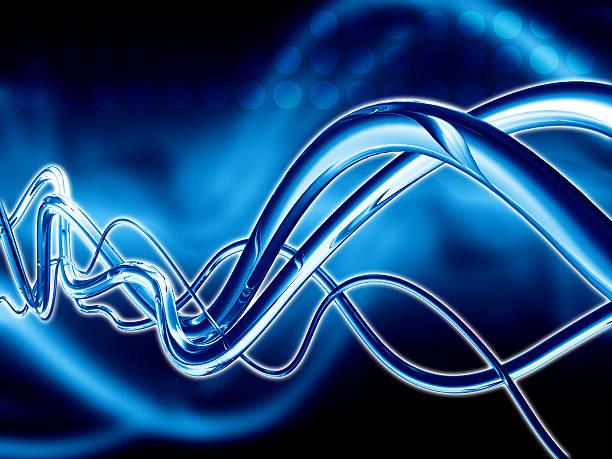 Blue Glass Sine Waves vector art illustration