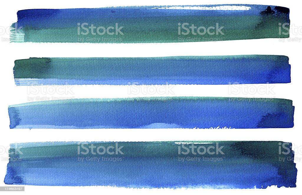 Blue green banners vector art illustration