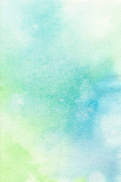 blue green pastel background  watercolor paint - pastel colored stock illustrations, clip art, cartoons, & icons