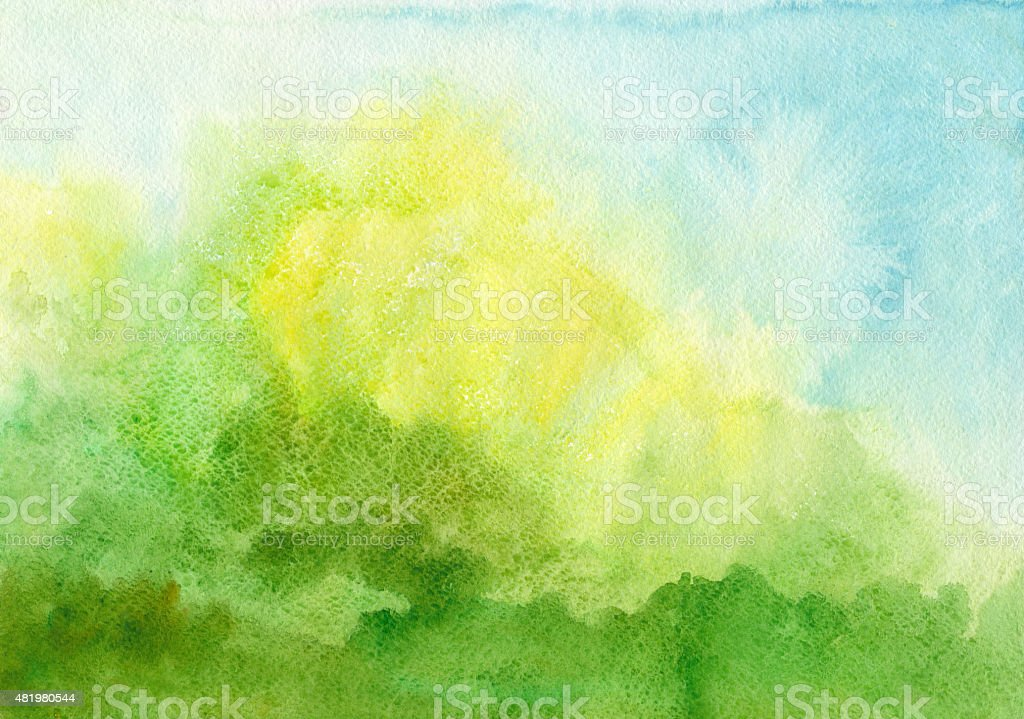 Blue green Aquarell Hintergrund – Vektorgrafik