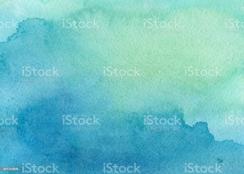 blue green watercolor background vector art illustration