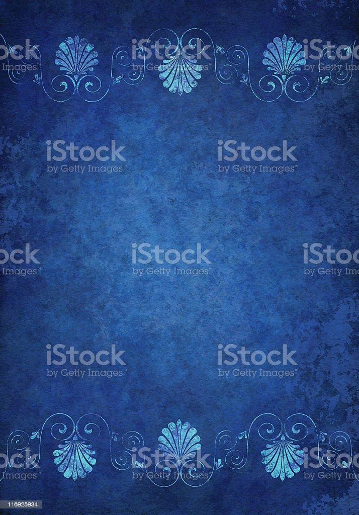blue grunge framed paper royalty-free stock vector art