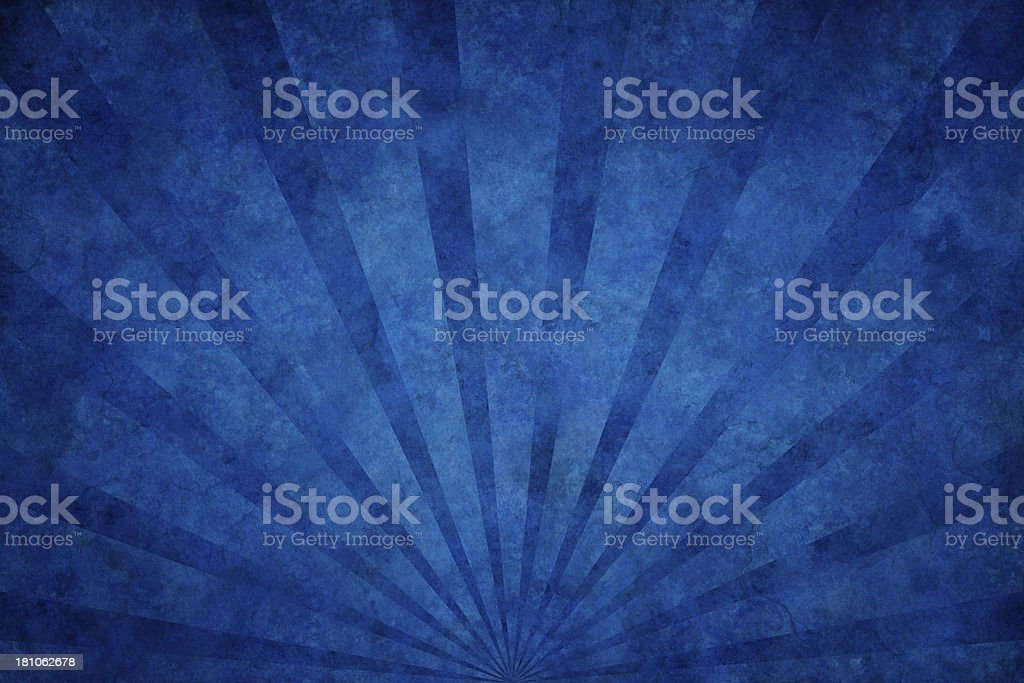 blue grunge texture with sunrays vector art illustration