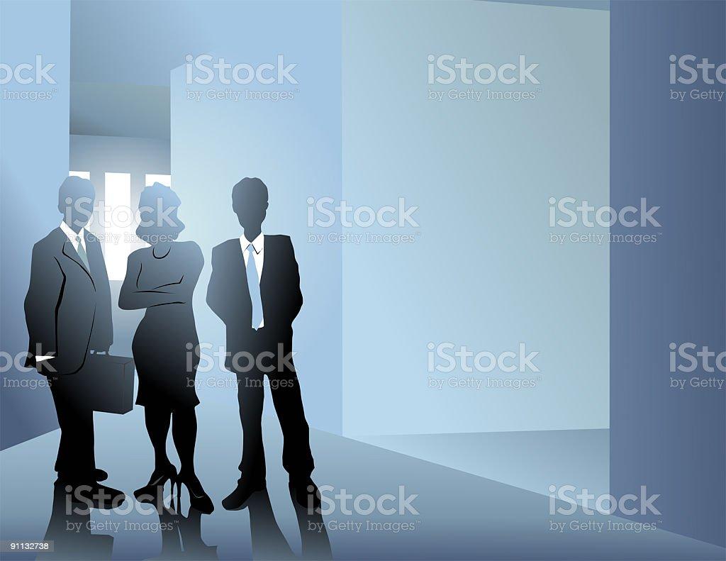 Blue Hallway royalty-free stock vector art