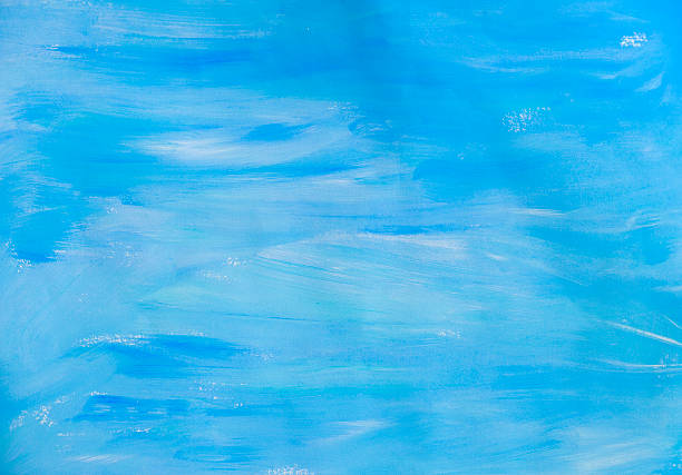 blue hand painted background - acrylic painting stock illustrations