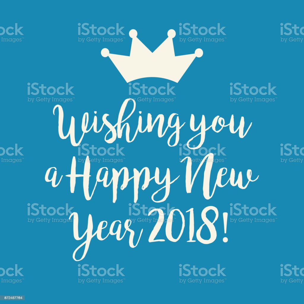 blue happy new year 2018 greeting card royalty free blue happy new year 2018 greeting