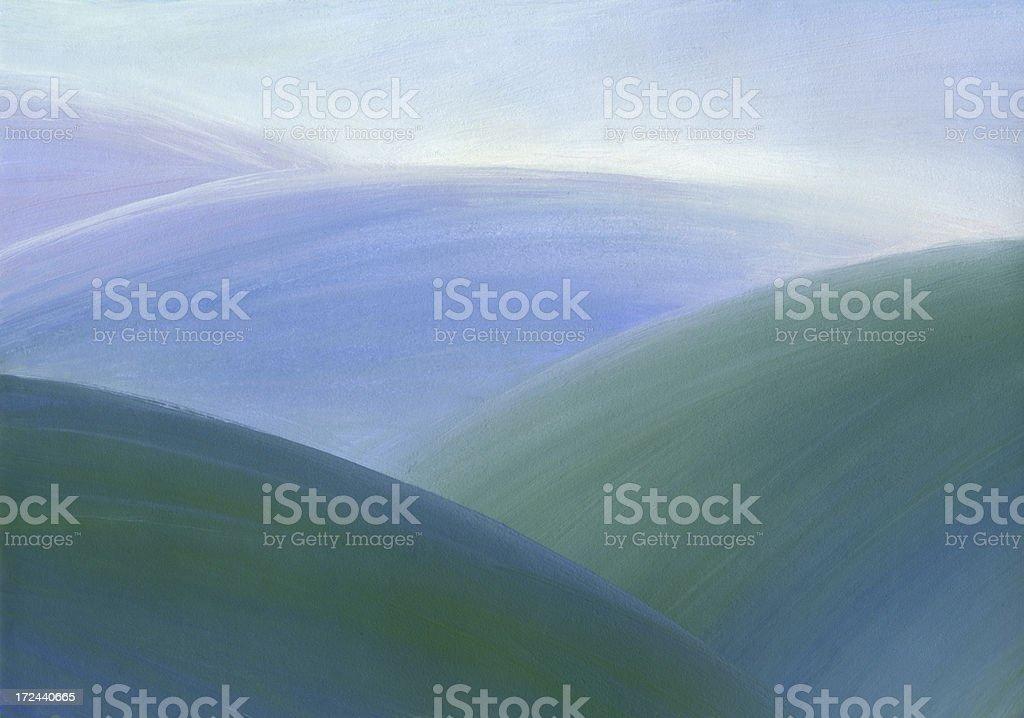 Blue Hills royalty-free stock vector art