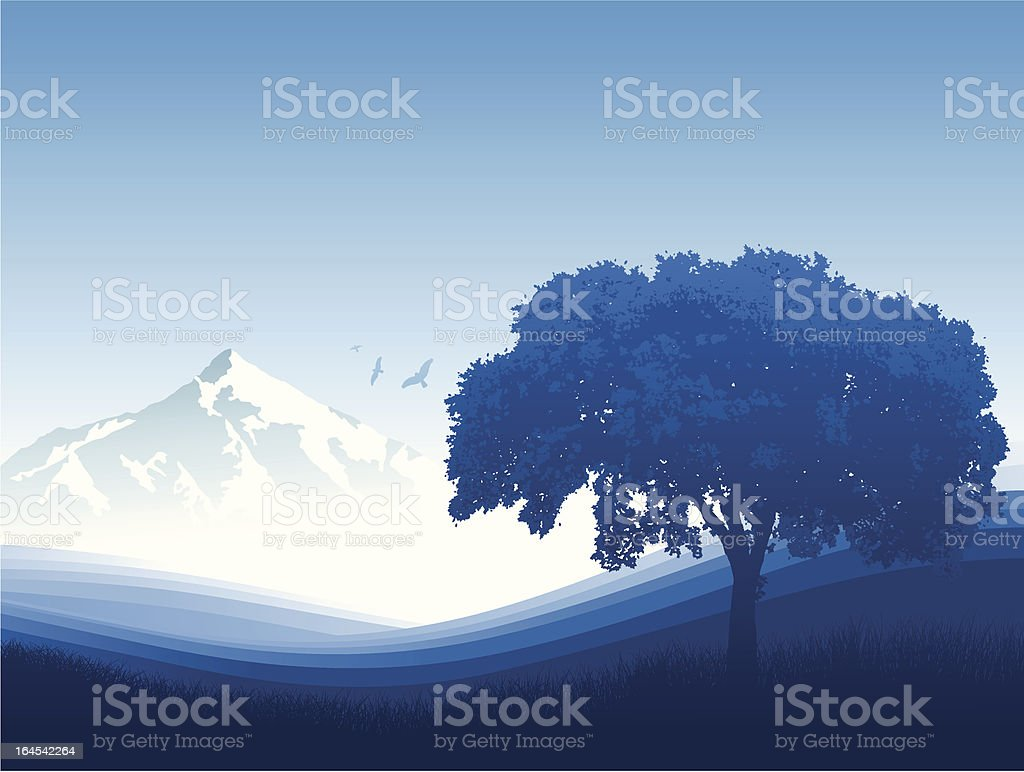 Blue Landscape royalty-free stock vector art
