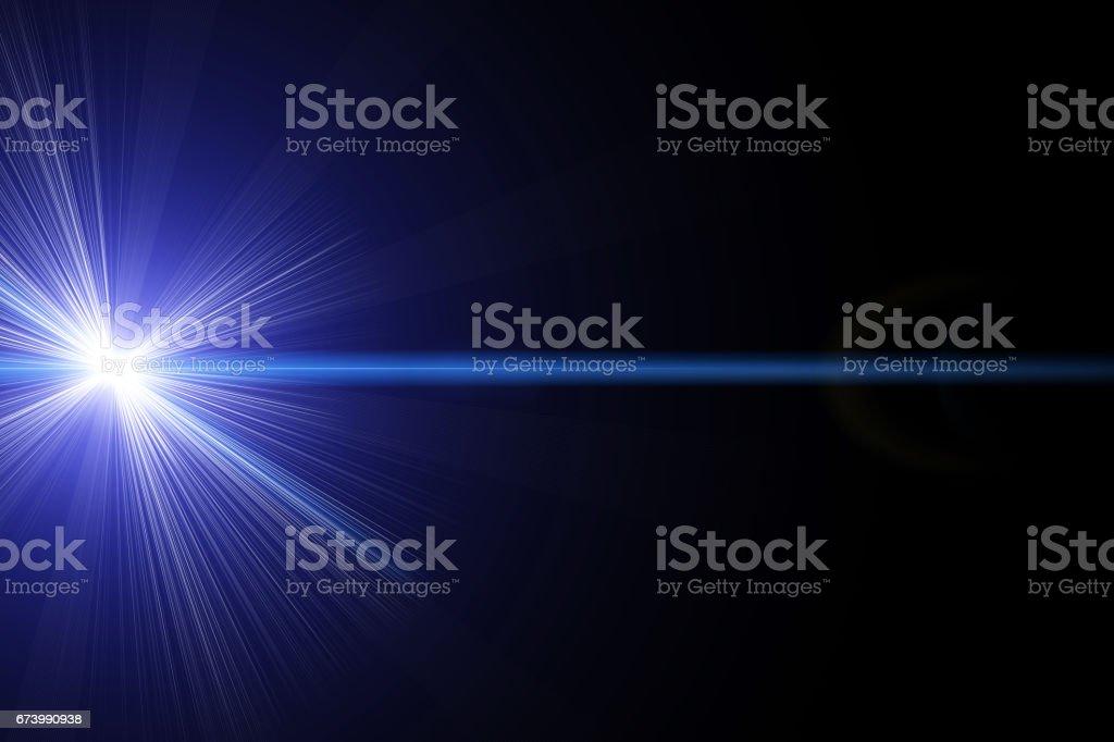 Blue laser vector art illustration