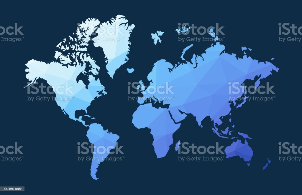 Blue low poly world map illustration stock vector art more images blue low poly world map illustration royalty free blue low poly world map illustration stock gumiabroncs Image collections