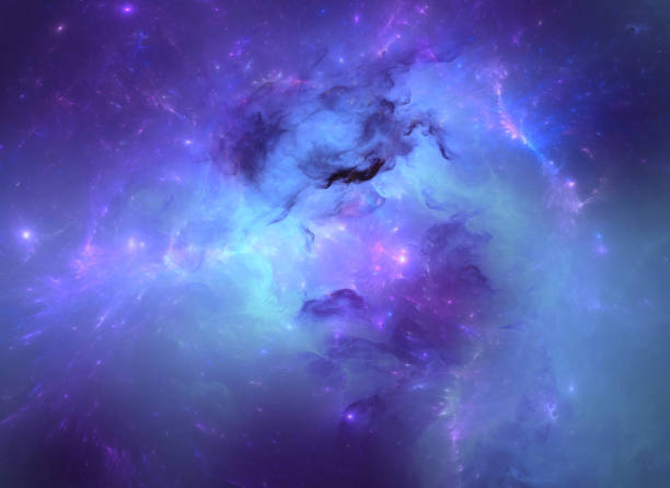 Blue nebula abstract scientific background nebula stock illustrations