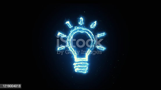 Blue Neon light, Lamp shape Consept