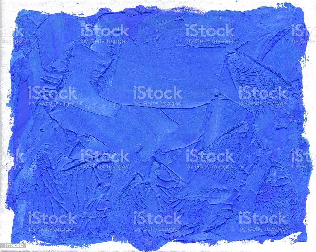 Blue Oil Paint vector art illustration