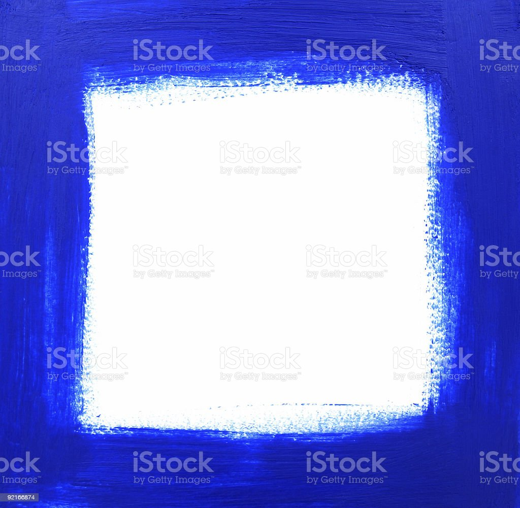 Blue oil-painted frame royalty-free stock vector art