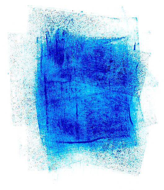 blue paint smudge - textured effect stock illustrations