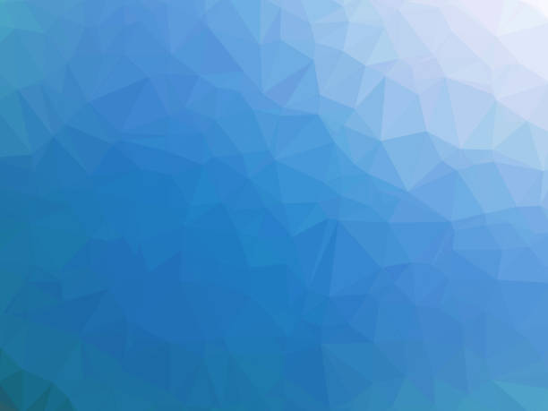 polygonal fondo azul - ilustración de arte vectorial