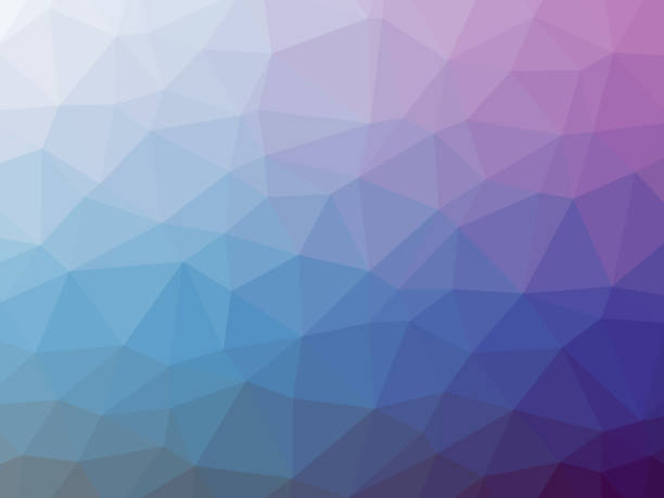 Blue purple polygonal background vector art illustration