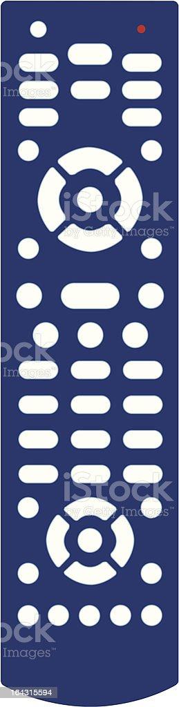 Blue Remote Control vector art illustration