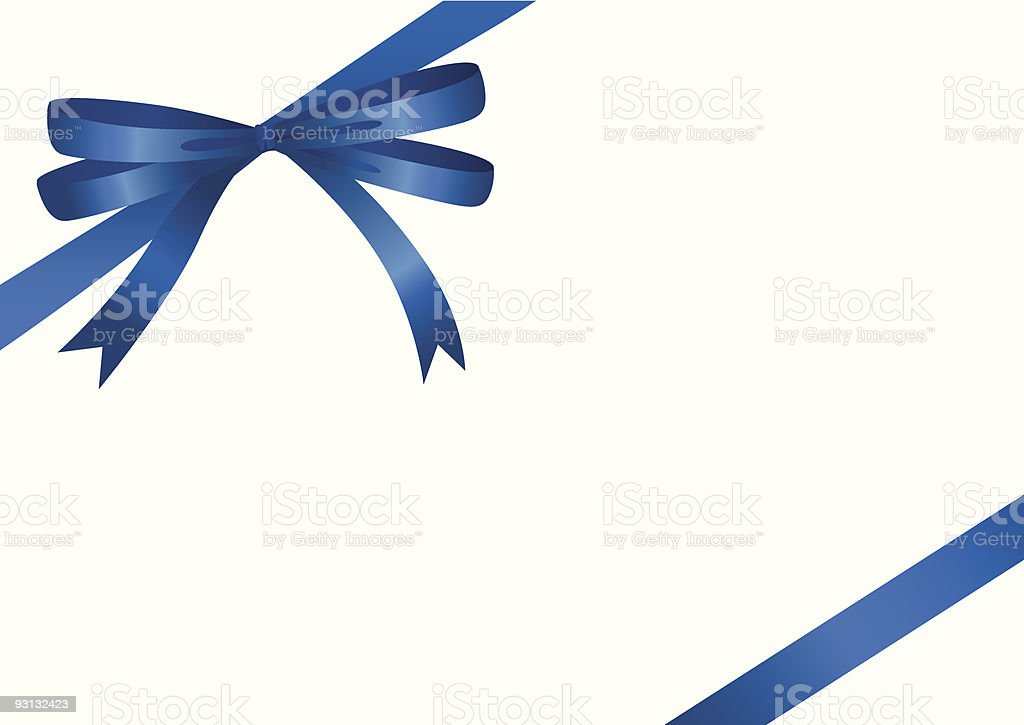 Blue Ribbon (vector + XXL jpg in ZIP folder) vector art illustration