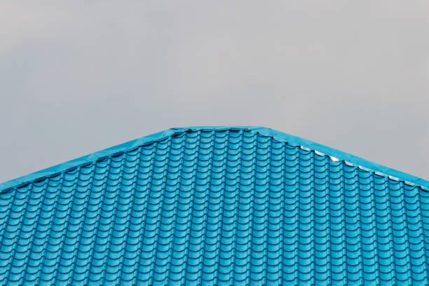 Blaue Dach auf Wolke Himmelshintergrund – Vektorgrafik
