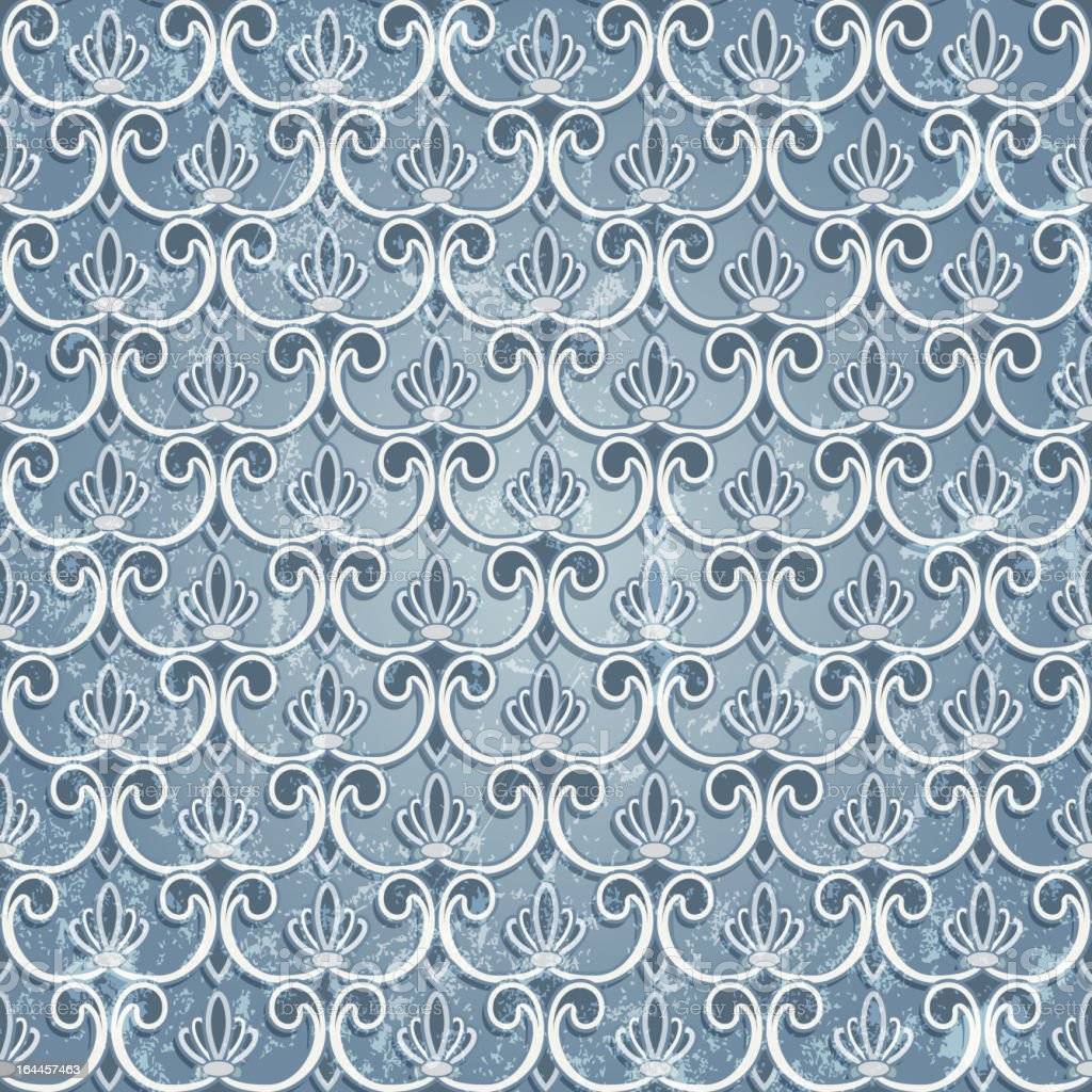 Blue seamless wallpaper royalty-free blue seamless wallpaper stock vector art & more images of abstract