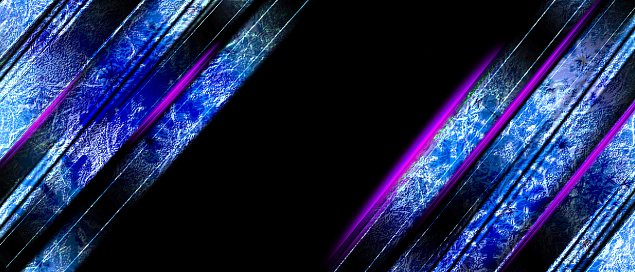 Blue shade and black abstract background with Pink neon laser lines on blank space. Luxury modern futuristic technology background.