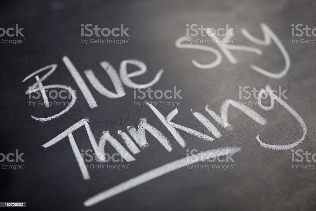 Blue sky thinking royalty-free stock vector art