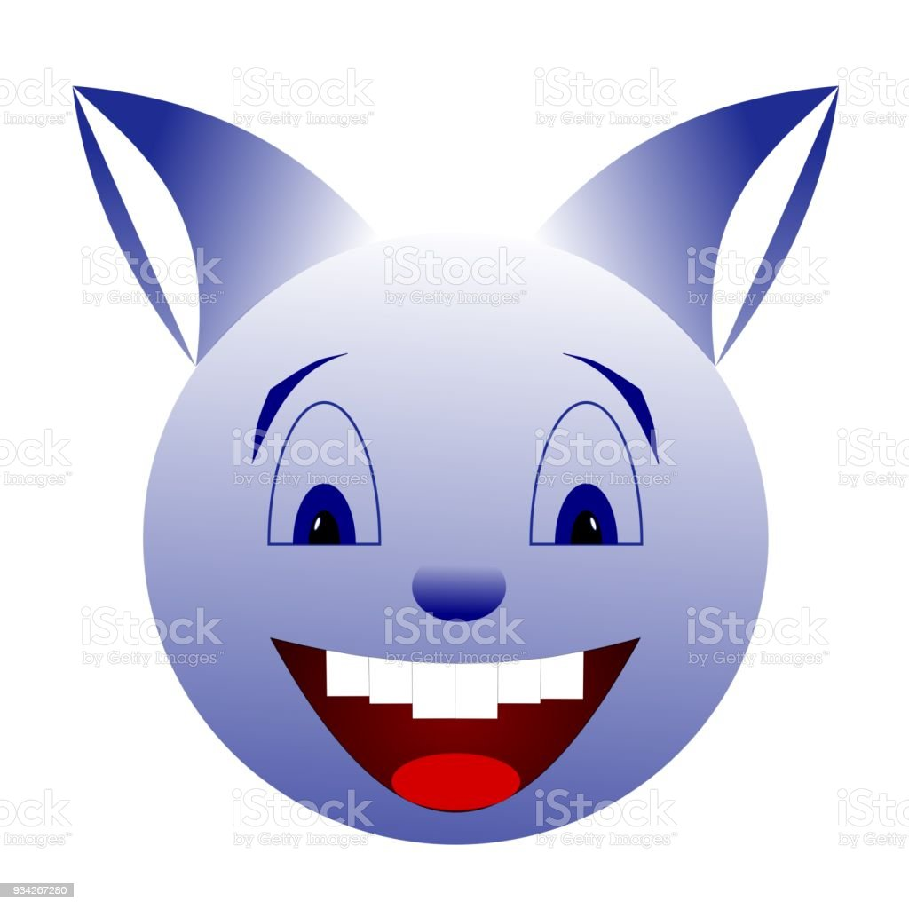 Blue smiling creature векторная иллюстрация