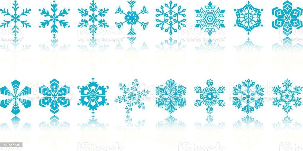 Blau Schneeflocken Lizenzfreies blau schneeflocken stock vektor art und mehr bilder von abstrakt
