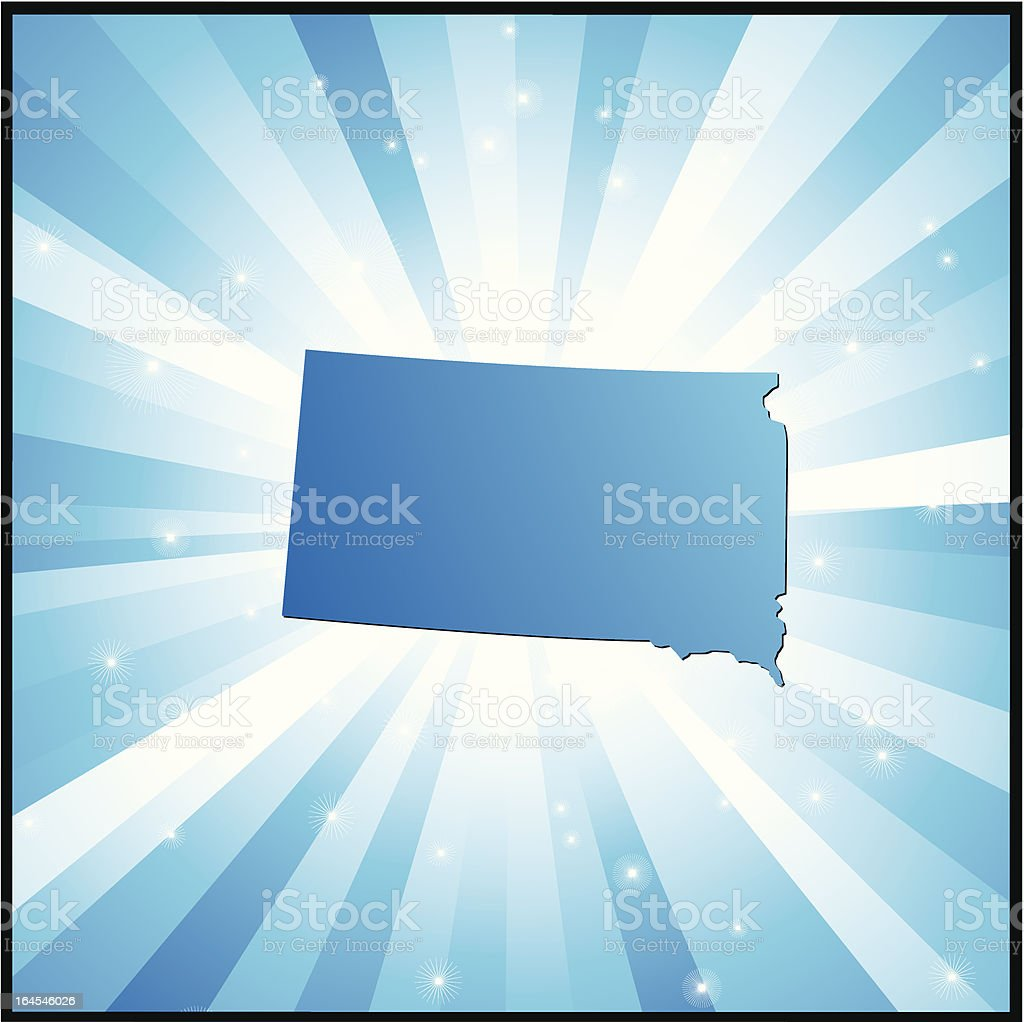 Blue South Dakota royalty-free stock vector art