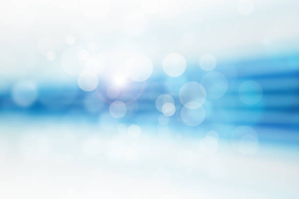 Blue sparkles vector art illustration