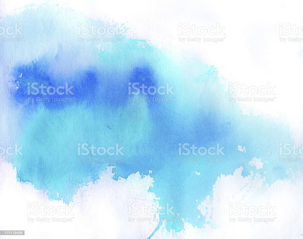 Blue spot, watercolor background vector art illustration