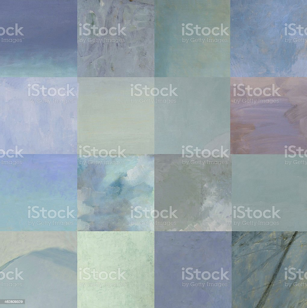 Blue squares royalty-free stock vector art