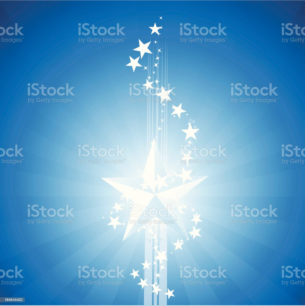 Blue star royalty-free stock vector art