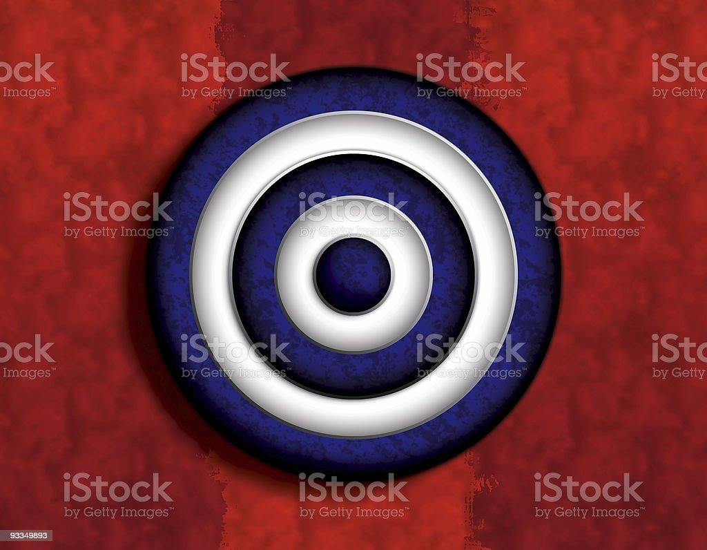 Blue Target - Orange Rip Back royalty-free stock vector art