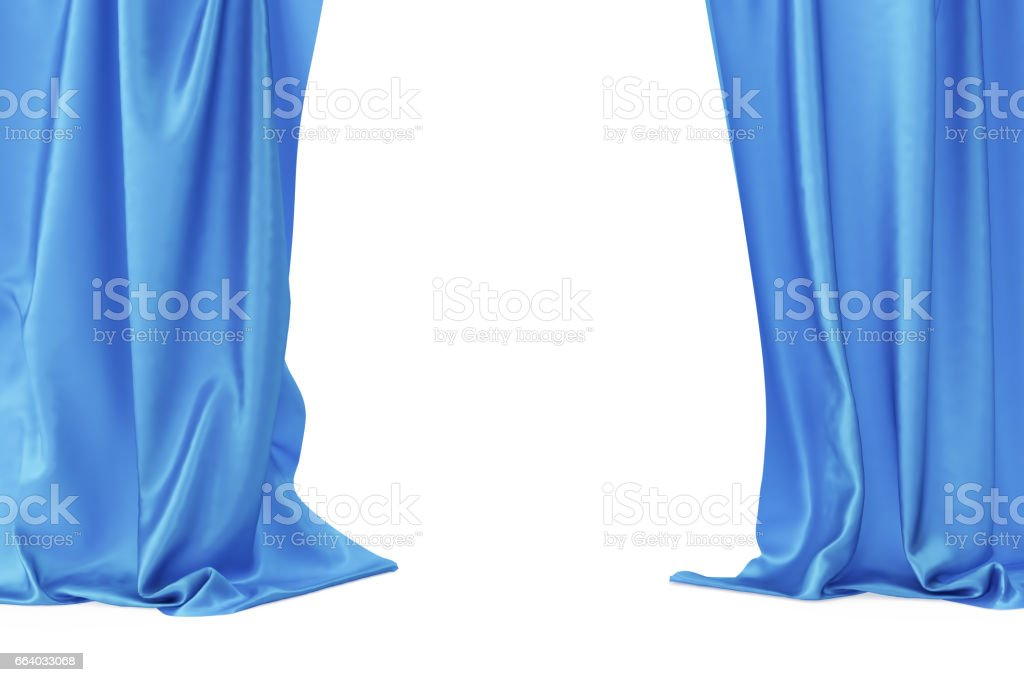 blue velvet stage curtains scarlet theatre drapery silk classical
