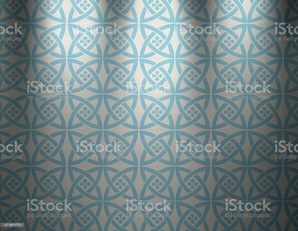 Blue Vintage Wallpaper Royalty Free Stock Vector Art Amp More Images