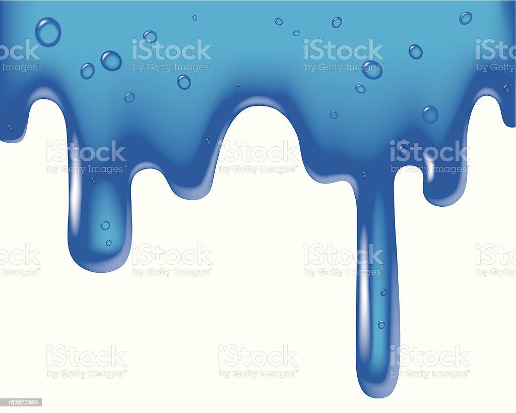 Blue viscous liquid royalty-free stock vector art