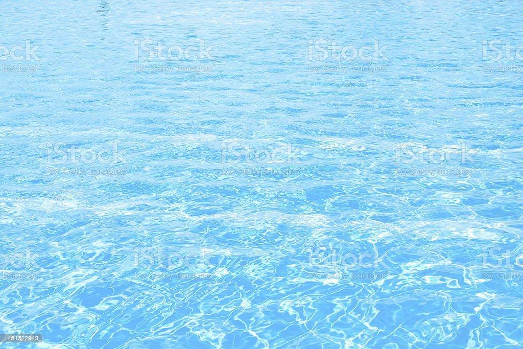 Blue water vector art illustration