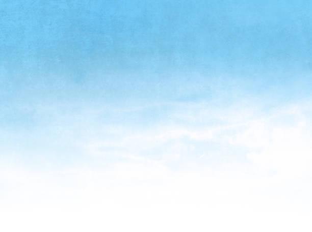 stockillustraties, clipart, cartoons en iconen met blauwe aquarel achtergrond gradiënt vervagen naar wit-abstract pastel sky in bleke retro stijl - blue sky