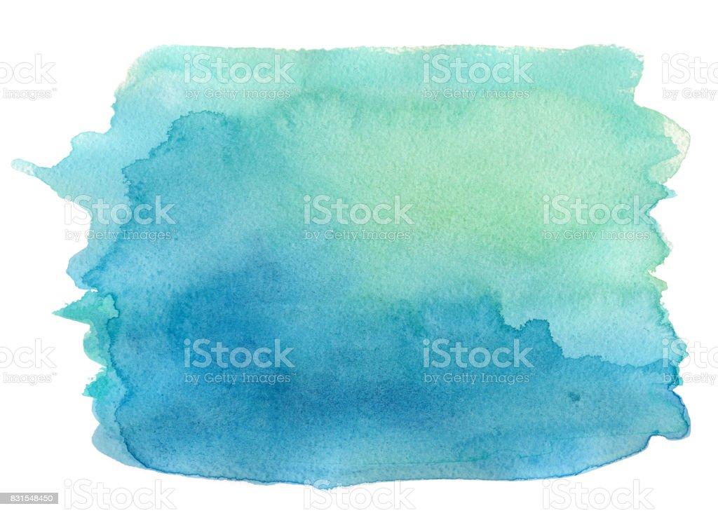 ブルーの水彩バックグラウンド  ベクターアートイラスト
