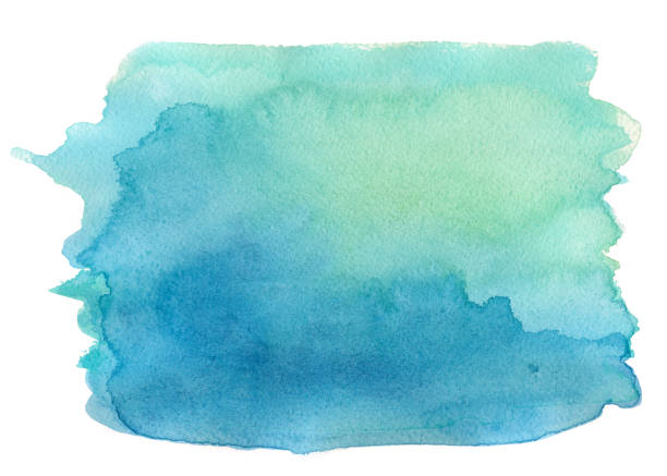 blue watercolor background - watercolor background stock illustrations, clip art, cartoons, & icons